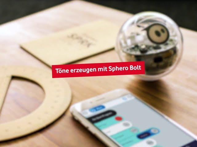 Sphero Bolt - Töne erzeugen