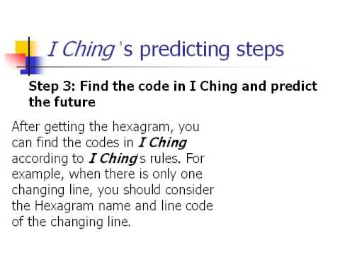 I Ching Codes Predicting the Future