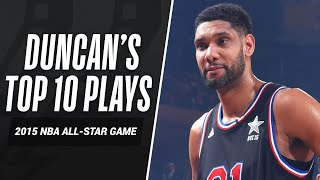 Tim Duncan Top 10 Plays: 2015 NBA All Star Reserve