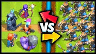 ROYAL RECRUITS vs ALL CARDS in Clash Royale | Royal Recruits Gameplay