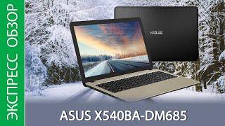 Экспресс-обзор ноутбука ASUS X540BA-DM685