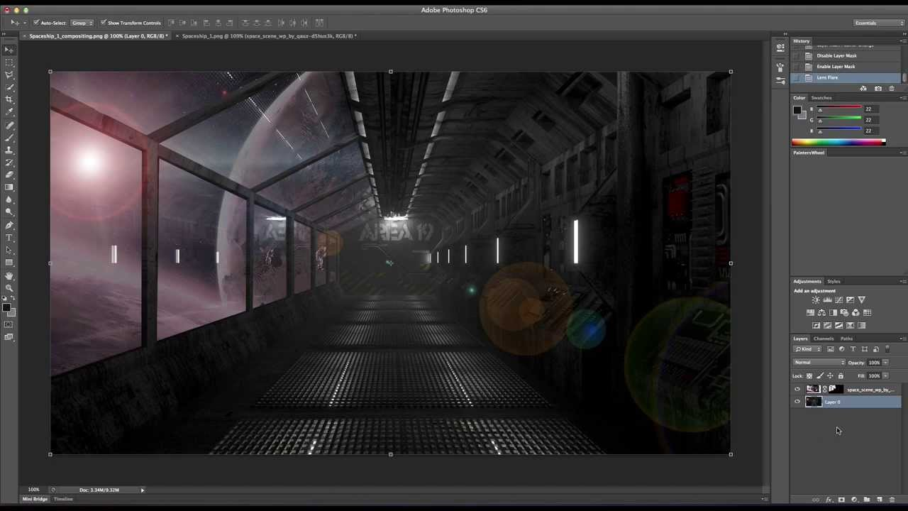 Blender Speed Modeling Spaceship Interior Ver 2 Youtube