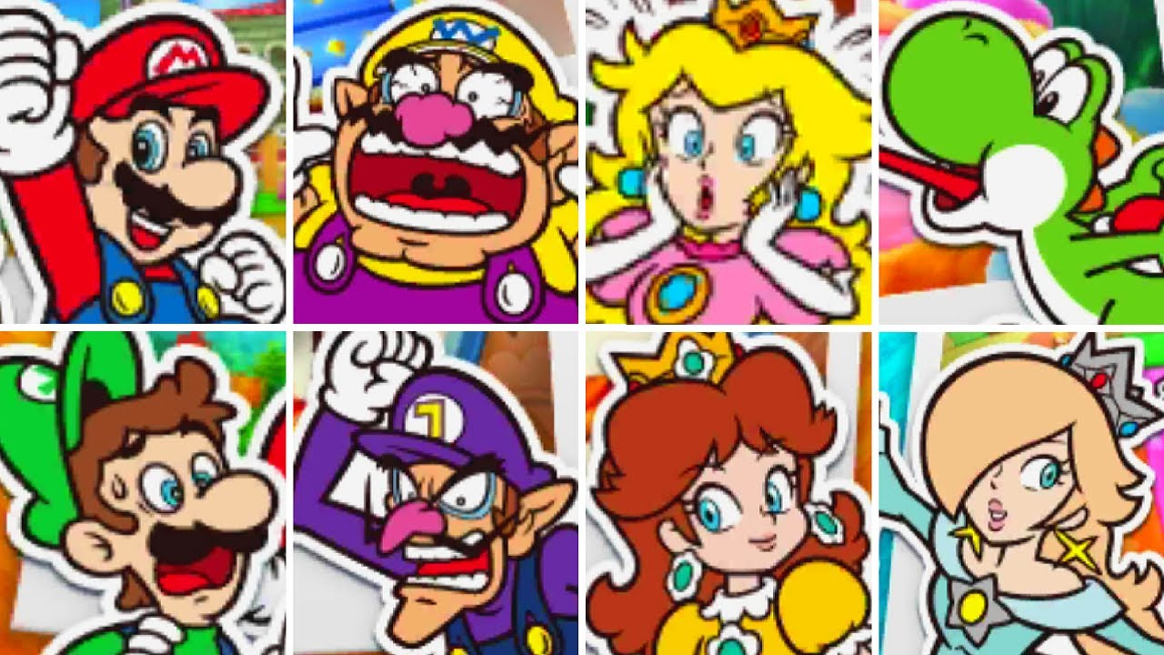 Mario Party The Top 100 - All Characters