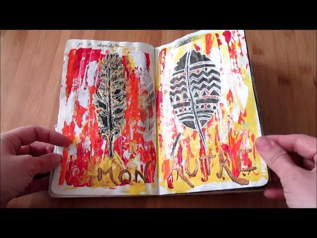 Moleskine Volant Art Journal Flip through