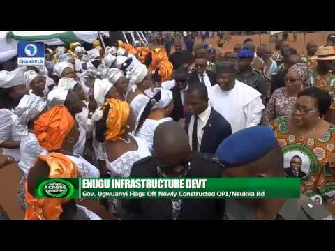 Gov Ugwuanyi Flags Off Newly Constructed Opi Nsukka Road