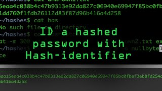 Fingerprint a Hashed Password with Hash-Identifier [Tutorial] thumbnail