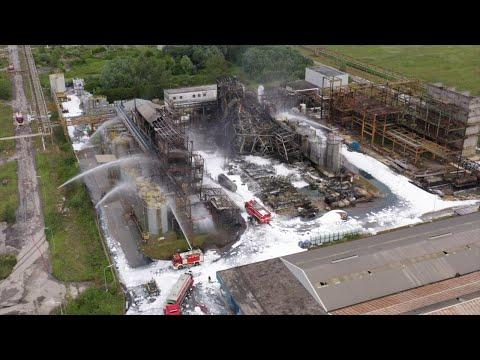 Venezia, incendio Marghera: i resti dello stabilimento distrutto dalle fiamme