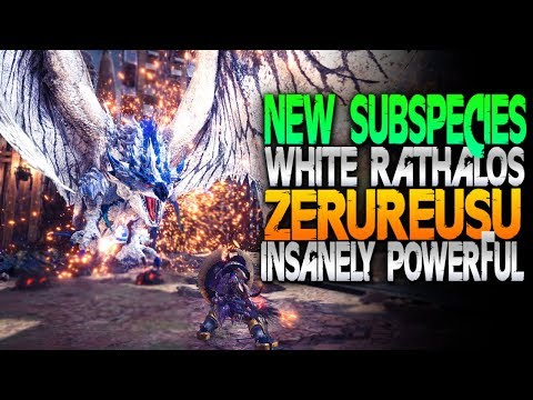 New Subspecies! White Rathalos - Zerureusu -  Monster Hunter World PC Mods