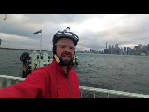 Toronto Islands at Christmas - City Cycling (4K)