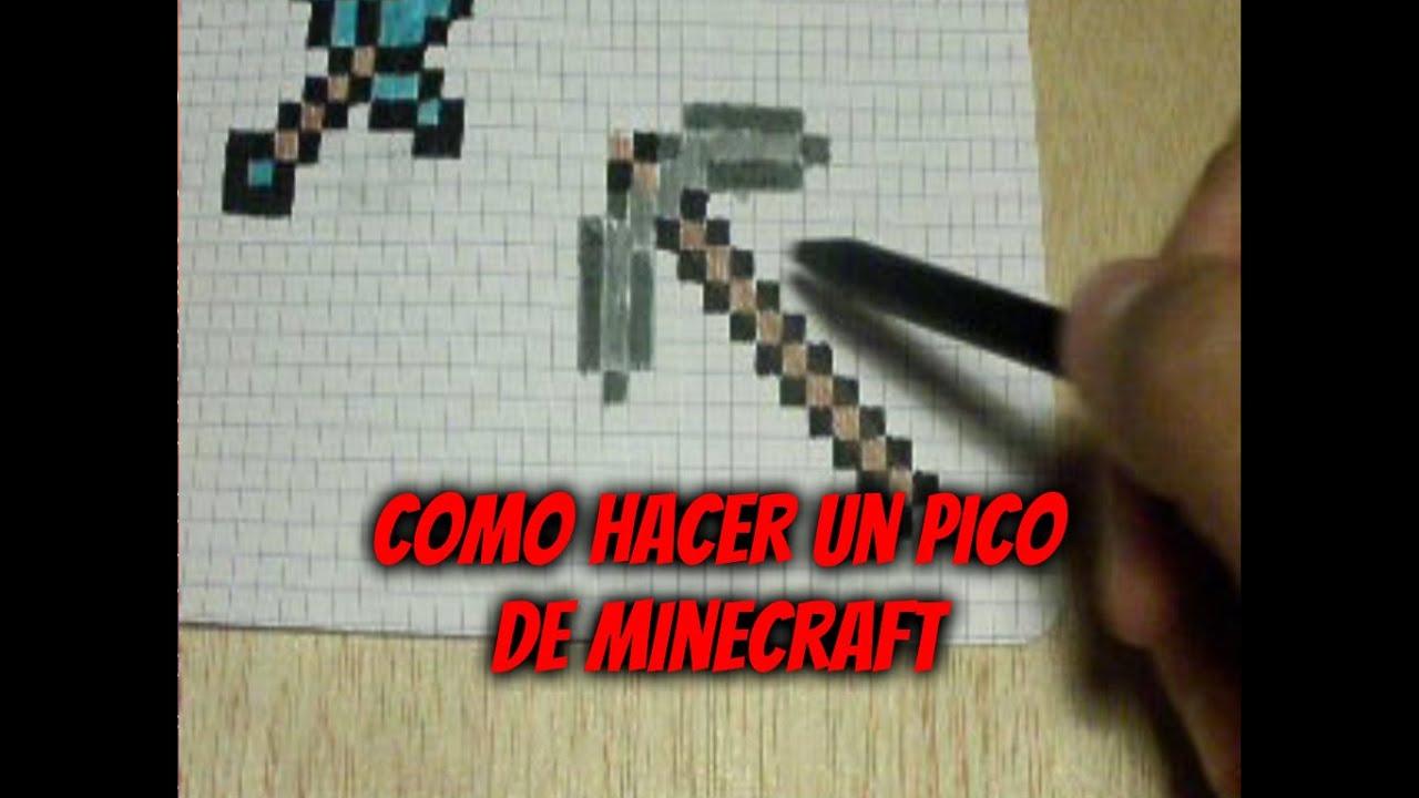 Como dibujar un Pico de minecraft en 8 bits Pixel Art  YouTube
