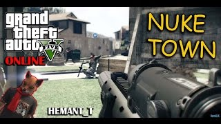 GTA 5 Online Funny Moments #10 - COD Nuke Town (GTA V PS4 Gameplay)