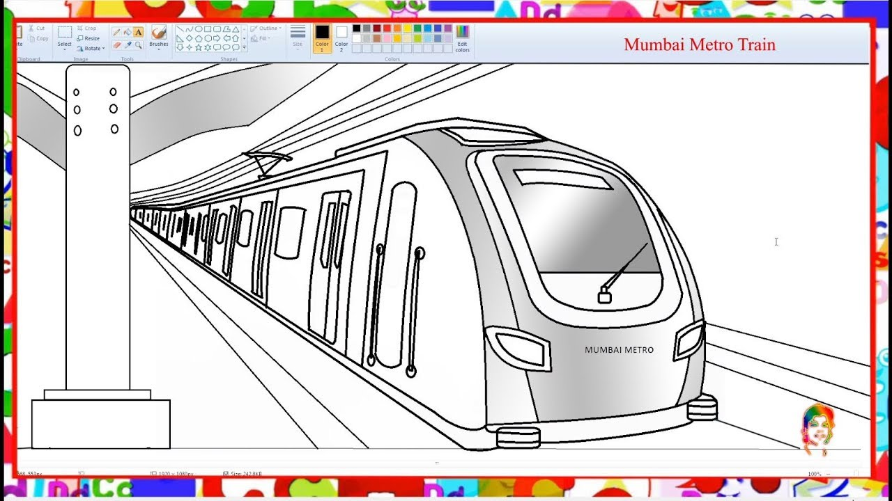 How to draw Mumbai Metro Train - Learn By Art - YouTube