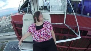Heather Leigh Cameron on the VooDoo Zipline - August 3, 2017