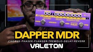 VALETON - DAPPER MDR - 7 Efectos | Chorus - Flanger - Phaser - Tremolo - Vibrato - Delay - Reverb
