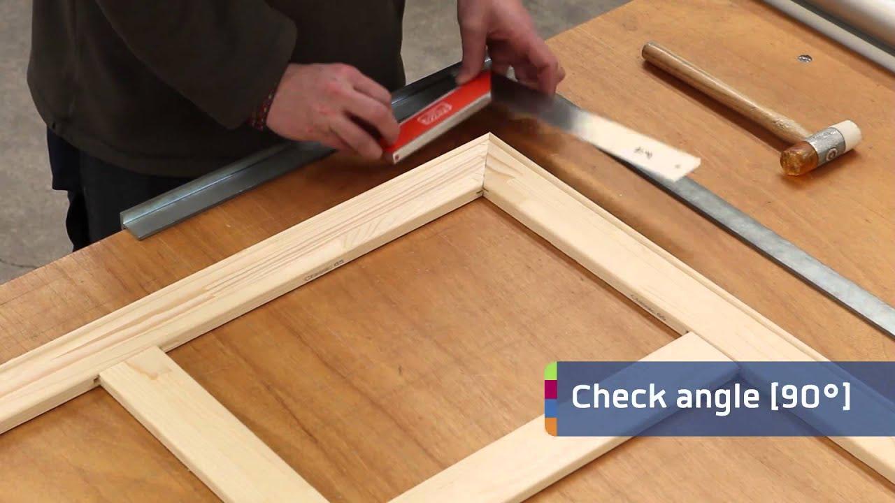 Zelf houten frame maken