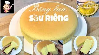 Làm BÁNH BÔNG LAN SẦU RIÊNG mềm mịn bông xốp | Durian chiffon cake