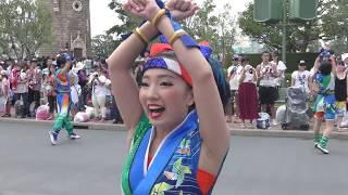 TDL ディズニー夏祭り2018.7.16 あの美人ドリミ舞踏会ダさん近すぎる超ドセン!で何と正面を見れずカメラ任せ!(今度は踊らずにちゃんと撮影しました!編)