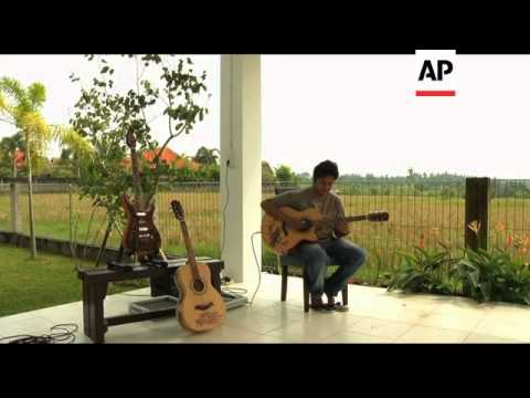 Handmade carved guitars from Bali gain international acclaim