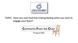 COMMENTS FROM THE CHAIR with Bro Bong Arjonillo - 9 August 2020