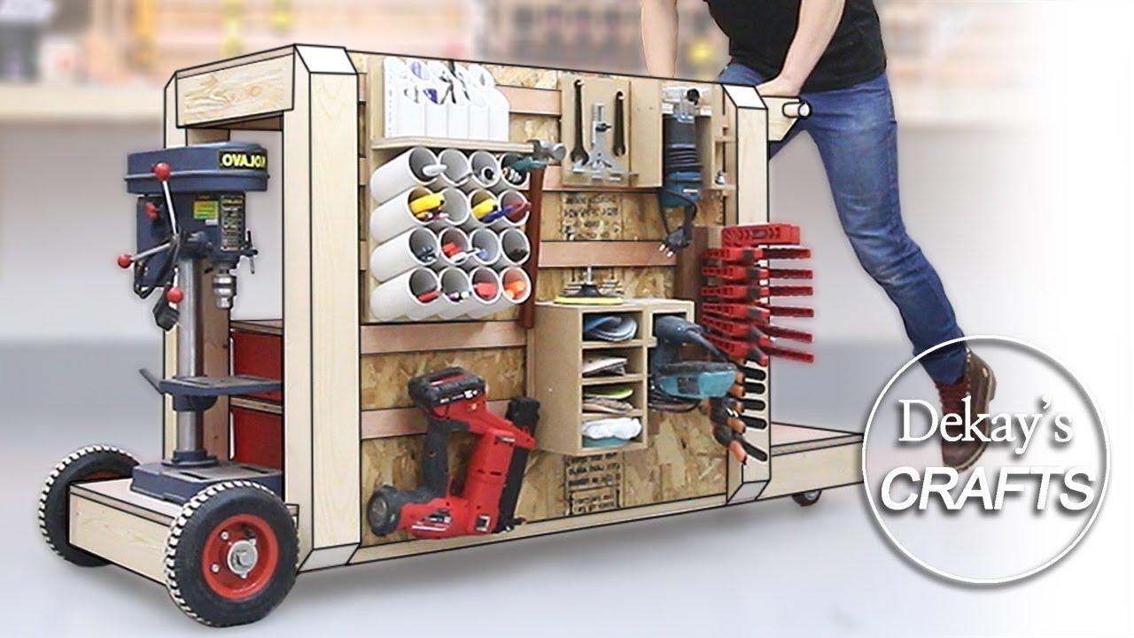 미니 목공 작업대 & 롤링 카트 워크벤치 / Mini Mobile Workbench & Heavy Duty Rolling cart [목공 DIY WOODWORKS]
