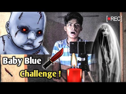 BABY BLUE CHALLENGE AT 3 AM , Breaking Rules Of Baby Blue Game #Babyblue , Baby , Blue