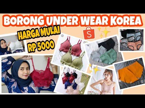 Borong Dalaman KOREA - Bra Sport dan Celana Dalam Harga Mulai 5Ribu