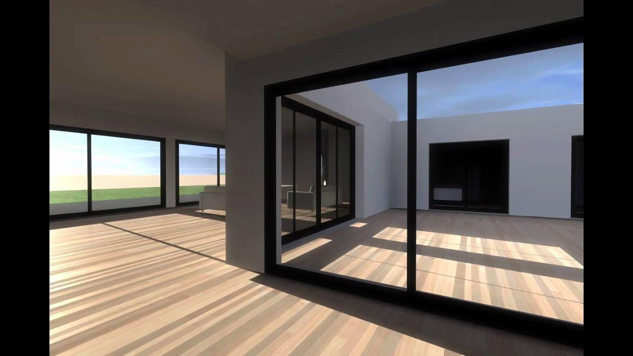 maison contemporaine quimperle 29 christophe le moing architecte lorient youtube. Black Bedroom Furniture Sets. Home Design Ideas