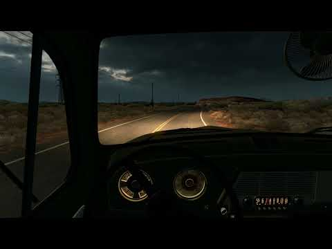 Ford F6 COE 1951 1952 - American Truck Simulator - Retro Truck Driving - Old Vintage Interior