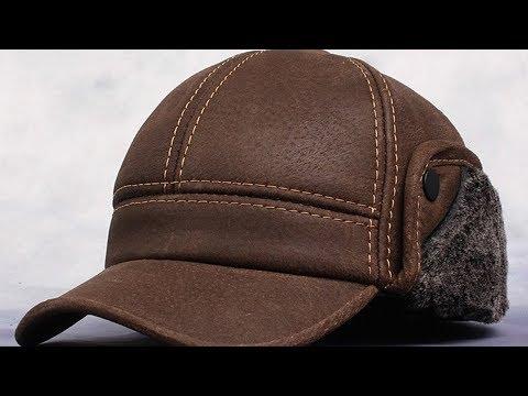 Кожаная зимняя шапка из Китая # 1