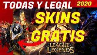 🔥Como TENER Todas Las SKINS de LEAGUE OF LEGENDS GRATIS y legal 2020🔥 SKINS GRATIS LOL