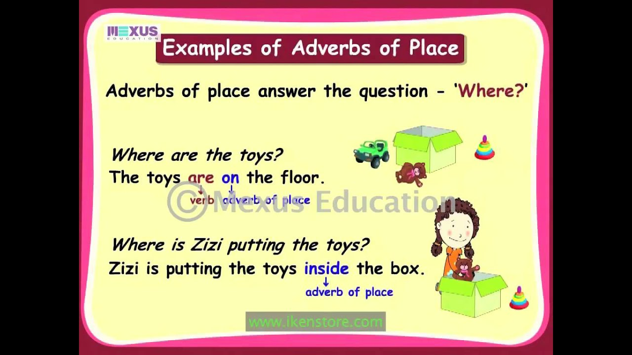 adverb of place exercises pdf