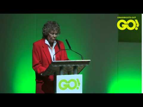 Labour Kate Hoey MP quotes Tony Benn on leaving the EU - 2016