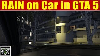 RAIN on Car in GTA 5 - 2 hours for SLEEPING, RELAXING SOUND