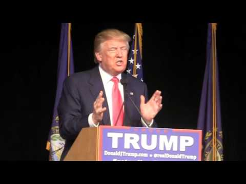 Donald Trump Speaks in Exeter, NH