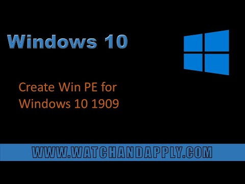 Create Win PE for Windows 10 1909