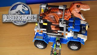 T....RAPPED!! - T.Rex Tracker Jurassic World Lego Set - Review/Build