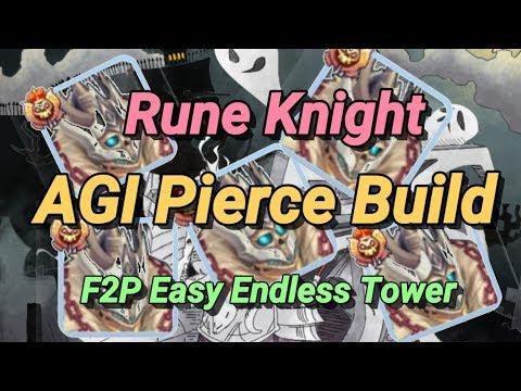 Rune Knight AGI Pierce Build SUPER BUDGET F2P Endless Tower Build Ragnarok Mobile