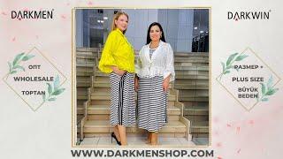 02 06 2021 Часть 1 Показ женской одежды больших размеров DARKWIN от DARKMEN Турция Стамбул Опт