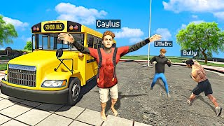 Going Back To SCHOOL w/ Little Brother In GTA 5 Roleplay..