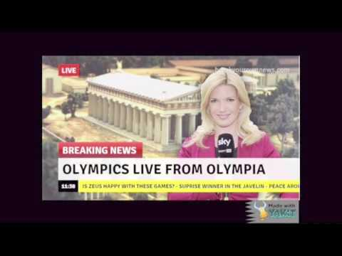 Sports report from the original Olympics.