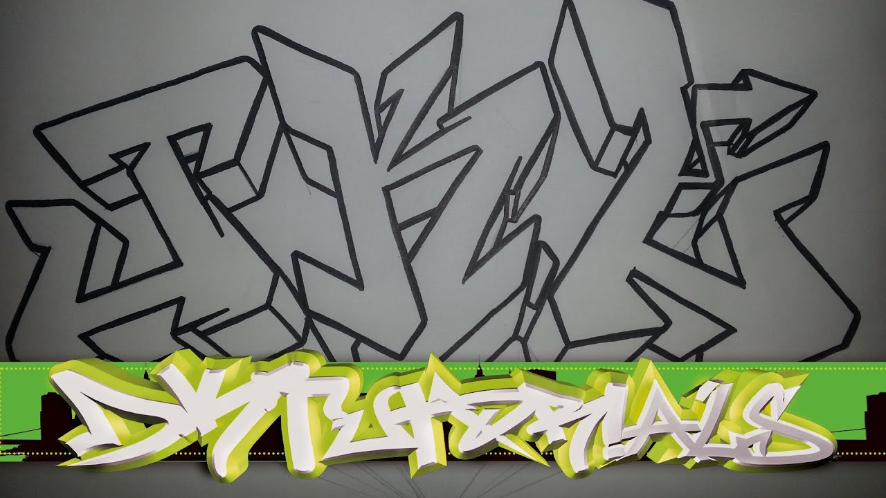 Draw Graffiti Wildstyle - Letters Jkl Step