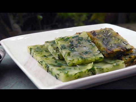 Thai steamed Garlic Chives Cake - Vegan Vegetarian Recipe