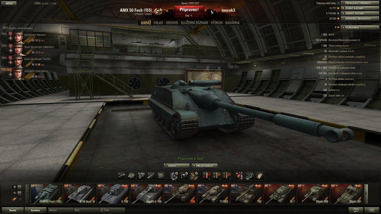 Download World of Tanks CZ - AMX 50 Foch (155)