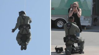 California Man Rappels From Helicopter in Epic Surprise Proposal
