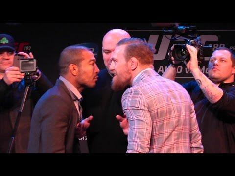 UFC 189 World Championship Tour: Boston Press Conference Staredown