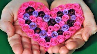 як зробити сердечка з квілінгу