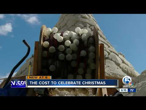 Costs of city holiday tree displays vary around area