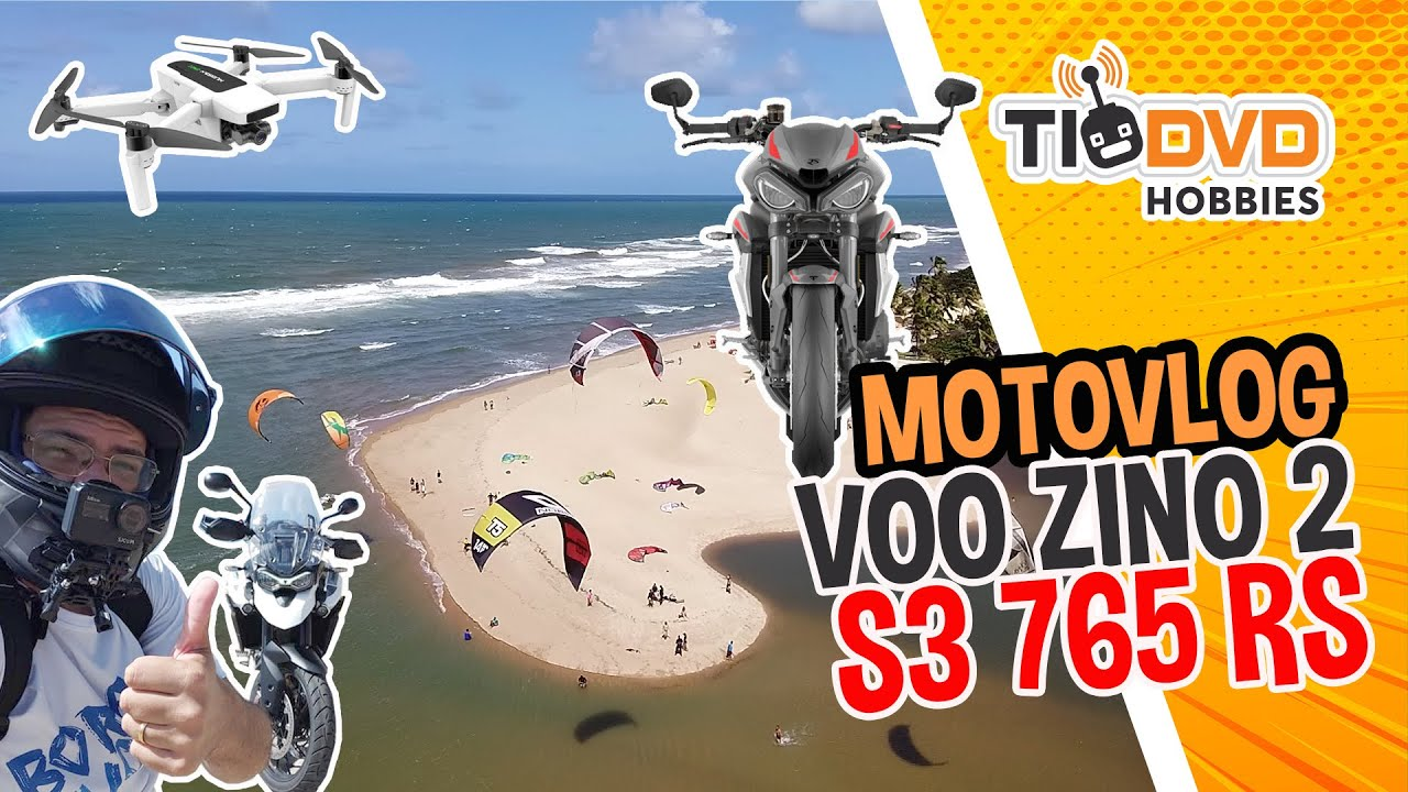 MOTOVLOG TIGER 900 GT PRO VOO DE DRONE HUBSAN ZINO 2 APRESENTAÇÃO NOVA TRIUMPH STREET TRIPLE RS 2020