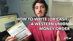 How to write or cash a western union money order