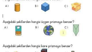 1. Sınıf Matematik Geometrik Cisimler-küre